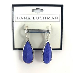 Dana Buchman Blue Teardrop Earrings